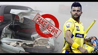 Suresh Raina quashes rumours of car accident, assures fans of his safety