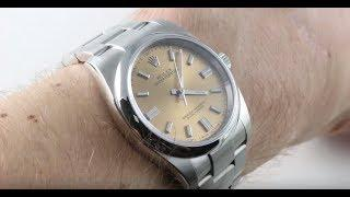 Rolex Oyster Perpetual 36 WHITE WINE DIAL (116000) Luxury Watch Review