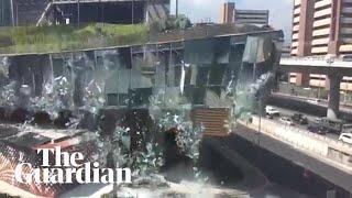 Luxury mall in Mexico City partly collapses