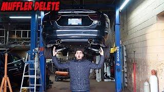 MUFFLER DELETE ON MY NEW JAGUAR!