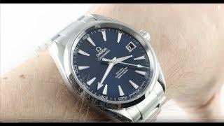 Omega Seamaster Aqua Terra (BLUE/STEEL) 41.5mm 231.10.42.21.03.003 Luxury Watch Review
