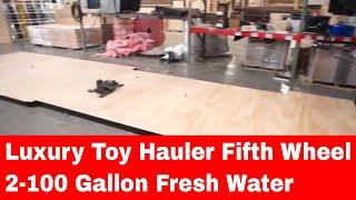 Take 2 - Luxe toy hauler luxury fifth wheel update fresh water tanks