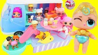 Lil Luxe and Fresh Go Camping in Pool, visit Doctor Barbie with LOL Surprise Boy Custom Lil Punk Boi