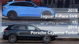 2019 Jaguar F-Pace SVR vs 2019 Porsche Cayenne Turbo (technical comparison)