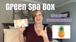 Luxury Spa Experience in One Amazing Box / Green Spa Box July 2018 / Giveway Announcement