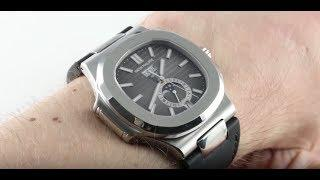 Patek Philippe Nautilus 5726A-001 Annual Calendar Moon Phase  Luxury Watch Review