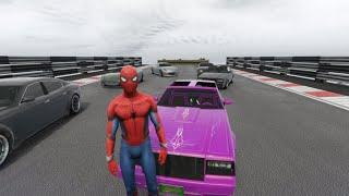 ????️Spiderman is Speeding Show on the Track Above the Sky????️ - Kids Songs for Children???????????