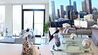 LUXURY FURNISHED HIGH RISE APARTMENT TOUR IN DOWNTOWN LA