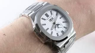 Patek Philippe Nautilus Annual Calendar Moon Phase 5726/1A-010 Luxury Watch Review