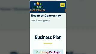 હેલો કેપિટલ હેલ્લો કેપિટલ 100% કાનૂની કંપની Best Career Opportunity Best Investment Plan Ever