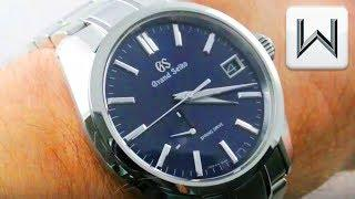 Grand Seiko Spring Drive Automatic BLUE DIAL (SBGA375) Luxury Watch Review