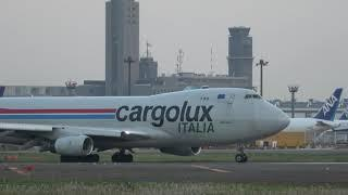 4K【なんか重たそうな着陸・離陸 Cargo Lux イタリア】 B747 Rwy16R 成田空港・nrthhh