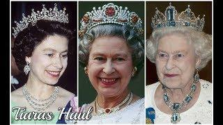 MOST SENSATIONAL LUXURY ROYAL TIARAS HAUL WORN BY QUEEN ELIZABETH II OF UNITED KINGDOM