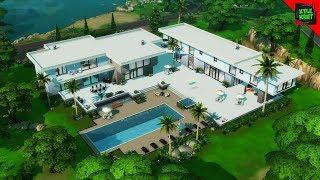 $300,000 Luxury MODERN MANSION - Sims 4 House Building