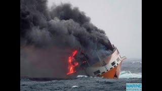 Luxury Audi and Porsche cars worth millions lost at sea when cargo ship capsizes-#FERRARI#PORSCHE