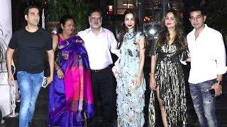 Arbaaz Khan & Malaika Arora Togethar Enjoying At Amrita Arora's Birthday Bash With Their Family