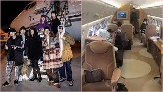 BTS's rented luxury private jet was revealed on Jimin's birthday made netizens super impressed!
