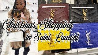 Luxury Christmas Shopping in Saint Laurent + GRWM!
