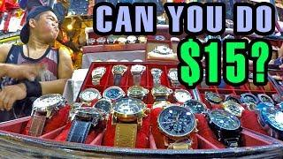 Replica Luxury Watches at Patpong Night Market in Bangkok, Thailand