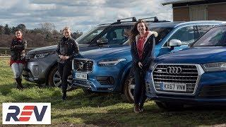 The REV test: Luxury SUVs. Audi Q7 vs Land Rover Discovery vs Volvo XC90