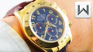Rolex Daytona (BLUE/GOLD) 116518 Cosmograph Daytona Luxury Watch Review