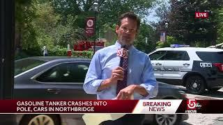 Gasoline tanker crashes in Northbridge