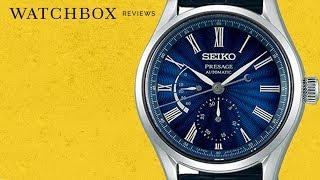 Seiko Presage ENAMEL DIAL Power Reserve Limited Edition SPB073 Luxury Watch Review