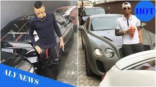 Photos of the array of luxury cars in Tekno's garage