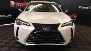 White 2019 Lexus UX 250H Luxury Package Review