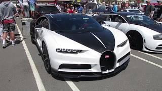 Black & White Bugatti Chiron (w/ startup)