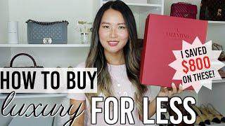 6 tips on buying luxury items for less & Valentino heels unboxing I SAVED $800! | AD