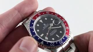 "Rolex GMT-Master II ""Pepsi"" 16710 Luxury Watch Review"