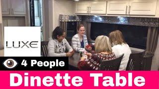 Luxury Fifth Wheel - Fifth Wheel Dinette Table for Four (4)