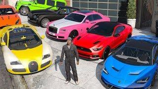GTA 5 - Stealing Luxury Cars with Franklin! (Expensive Real Cars #02)