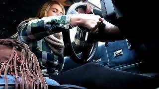 Pedal Pumping Rockell Starbux Cranking Her Car