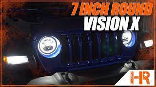 "Vision X 7"" Round LED Headlights with Halos and Light Bar Technology"