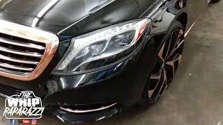 Mercedes Benz S550 on Lexani's with Rose Gold Package