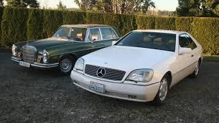 Mercedes 1970 6.3 300SEL and 1995 V12 C600 6.0 Comparison: Cars are For Sale