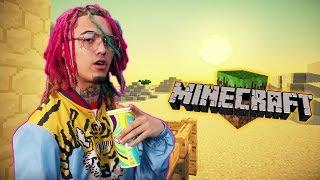 "LIL PUMP PLAYS MINECRAFT ~ ""Luxury Life In Minecraft"" 2018"