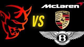 Dodge Demon vs Bentley Bentayga, Porsche 911, McLaren | When Luxury has POWER! (Audi vs The World)