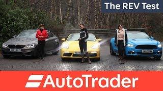 The REV Test: Sports cars. Three women, three cars. Which one wins?