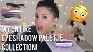 MY EYESHADOW PALETTE COLLECTION! LUXURY HIGH END & AFFORDABLE!