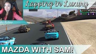 Lapping in Luxury - Samantha races Mazda!