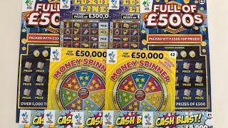 Video 106 - Full Of 500's, Luxury Lines, Money Spinner & Cash Blast Scratchcards????