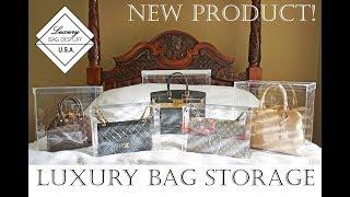 Bag Storage Ideas Product Review - Luxury Bag Display | How to store handbags inc Chanel bags