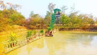 Building Top Luxury Bridge to House By using Bamboo .