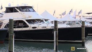 2019 Palm Beach 55 Luxury Yacht - Interior Deck Walkthrough - 2019 Miami Yacht Show