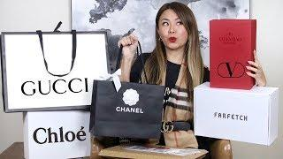 LUXURY UNBOXING HAUL! CHANEL, GUCCI, CHLOE, BALENCIAGA, FARFETCH HAUL