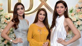 Mahira Khan, Maya Ali and Reema Khan at Lux TVC Launching Event
