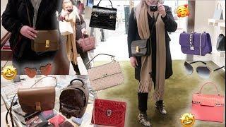 Trying On Luxury Bags♡Celine♡LUXURY SHOPPING VLOG♡Delvaux♡Valentino♡BVLGARI♡Bottega Veneta